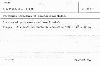 Programme structure of czechoslovak radi