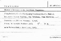 Historia Universitatis Carolinae Pragensis 1983                         (Tomus 23, Fasc. 2)