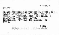 Dejiny slovenskej literatúry 2