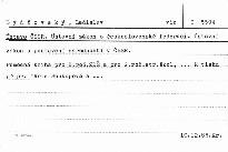 Ústava ČSSR. Ústavní zákon o českosloven