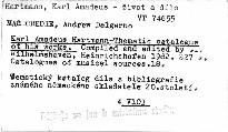 Karl Amadeus Hartmann - thematic catalog