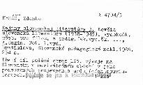 Dejiny slovenskej literatúry 3