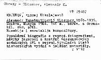 Alexandr Konstantinovič Glazunov
