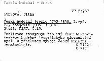 Česká hudební teorie 1750-1850