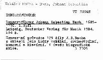 Konzertführer Johann Sebastian Bach