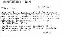 Stručné dějiny opery z hudebně dramatického hlediska