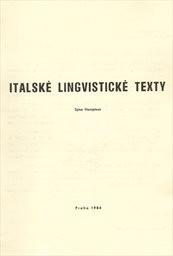 Italské lingvistické texty