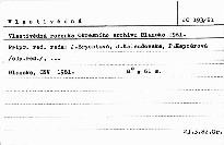 Vlastivědná ročenka Okresního archívu Blansko
