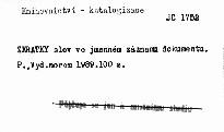Zkratky slov ve jmenném záznamu dokumentu