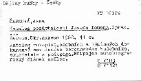 Katalog pozůstalosti Josefa Tomana