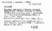Hudobné udalosti v Československu 1988.