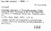 Hudební události v Československu 1990.