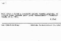 """""""Pražské jaro"""" 1968 a jeho odkaz."""