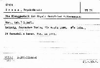 Die Klanggestalt der Orgeln Gottfried Silbermanns