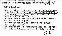 Historische Musikinstrumente der Staatli