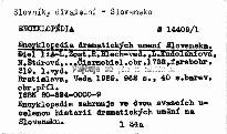 Encyklopédia dramatických umení Slovenska                         (1,)