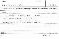 Laboratorní diagnostika gramnegativních