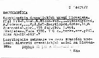 Encyklopédia dramatických umení Slovenska                         (2,)