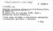 Divadlo Antonina Artauda                         (II)