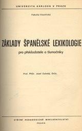 Základy španělské lexikologie pro překladatele a tlumočníky