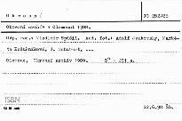 Okresní archív v Olomouci 1988