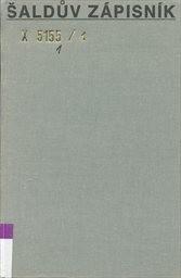 Šaldův zápisník                         (1,)