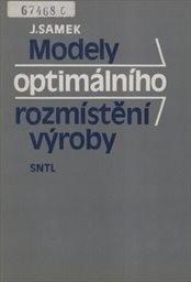 Modely optimálního rozmístění výroby