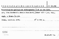 Mineralogicko-geologická bibliografie ČS