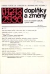 Doplňky a změny československého úplného
