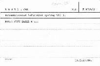 Automatizované informační systémy VTI 3