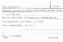 Dokumenty a materiály k dějinám československo-polských vztahů v letech 1949-1960