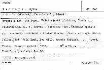 Stanislav Libenský. Jaroslava Brychtová.