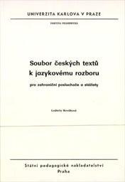 Soubor českých textů k jazykovému rozboru