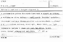 Výchova a vzdělání v českých dějinách 2