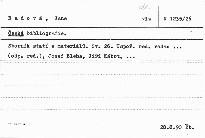Česká bibliografie                         (Sv. 26)