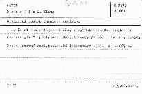 Optimální postup chemické analýzy.