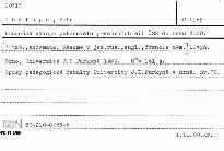 Prognóza vývoje potenciálu pracovních sil ČSR do roku 2000