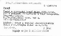 České a slovenské hrané filmy 1989