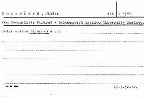 Jan Evangelista Purkyně v dokumentech Archivu Univerzity Karlovy