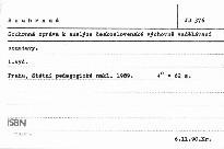Souhrnná zpráva k analýze československé