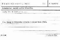 Práce z Okresního archívu v Kutné Hoře 1987