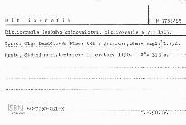 Bibliografie českého knihovnictví, bibli; Bibliografie českého knihovnictví, bibliografie a VTI
