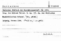 Deutsches Jahrbuch der Musikwissenschaft