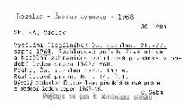 Vysílání (legálního) Čs. rozhlasu 21.-27. srpna 1968