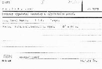 Dodávky výpočetní techniky a výpočetních prací
