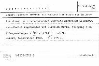 Mozart-Jahrbuch 1989-1990