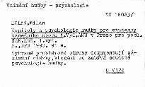 Kapitoly z psychologie hudby pro student