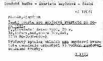 Česká tvorba pro smyčcová kvarteta po roce 1945