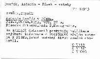 Antonín Dvořák v Písku