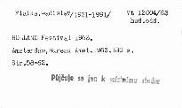 Holland Festival 1963